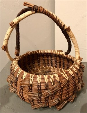 Pine Needle Double Handle Basket, 2017
