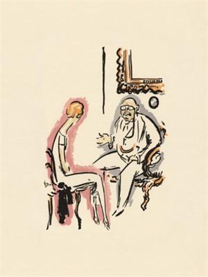 Couple Conversing -La Garconne Series- Un couple parle ensemble, 2011
