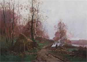 FRENCH WINTER LANDSCAPE