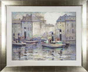 Boats in Berlin Harbor, c. 1929
