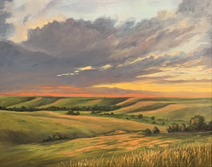 The Flint Hills at Sunset by Cathie Thompson