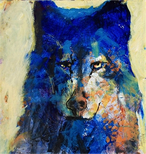 Blue Wolf by Susan Easton Burns