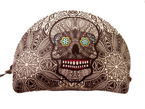 Coin Purse - Leather Catrina Blk/wht