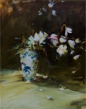 Dragon Vase and Magnolia Branch