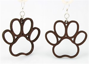 Earrings - Dog Paw  1018