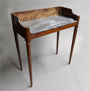 CONTINENTAL MAHOGANY AND MARBLE SIDE TABLE, Continental, 19th century