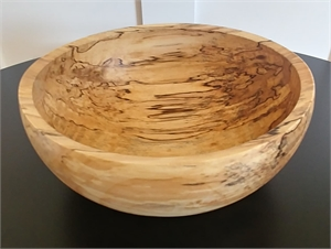Spalted Silver Maple Bowl, 2019