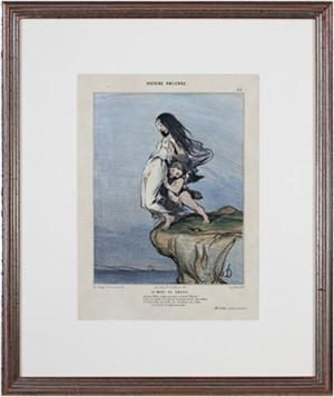 Histoire Ancienne (Plate No. 49) LA MORT DE SAPHO 2nd State (rare) Delteil #973, 1843