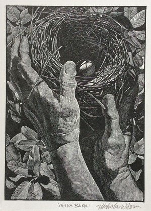 Give Back - Wood Engraving (10/100)