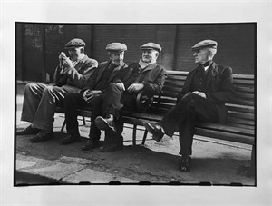 No. 220 Four Men on a Bench, Newcastle, England, 1951
