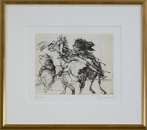 Don Quichotte De La Manche-Quichotte & Sancho Panza on Horseback-Don Q. Falling (68/200), 1980