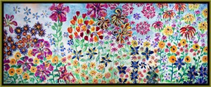 Perennial Panorama with Multi-flavored Taffy Flowers, 2010