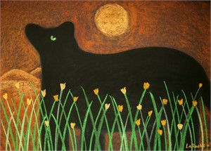 SOLD 'Black Bear/Moon'