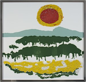 Red & Yellow Sun With Textured Yellow Field, c.1960's