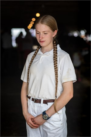 Girl with Braided Hair, Cummington Fair (1/3), 2018
