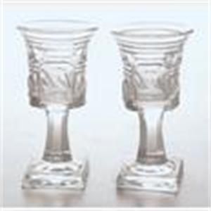 SET OF 14 NORTHERN EUROPEAN GLASS PEDESTAL CORDIAL STEMS, Northern European, 19th century