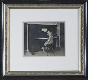 Sylvia Spicuzza at the Piano, c.1916