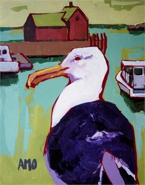 Seagull with motif, Bradley wharf