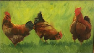 Chickens In The Grass