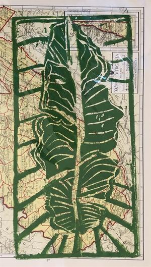 Banana Leaf Monoprint (SPECIAL PRICING), 2020