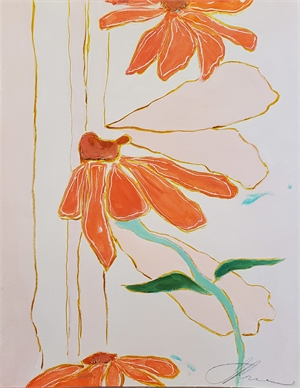 Echinacea Garden I, 2020