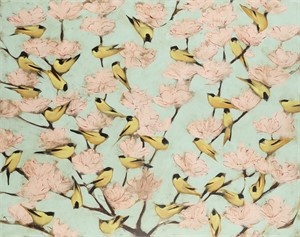 Blossoms and Finches