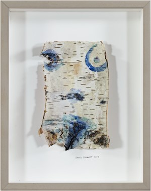 Up North Birch Bark Series:  Homage to Michelangelo Birch Bark Body, 2004