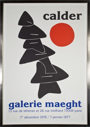 Stabile with Red Sun Galerie Maeght, 1976-77