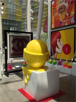 The Sweet Life Lollipop Giant Yellow, 2019