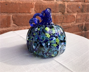 Blue And Green Glass Pumpkin, 2019
