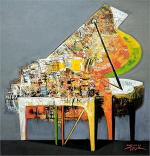 Piano in Gray