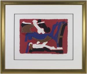 Cheveaux et Cavalier (Horse & Rider) VI (Black, Red, Blue, White) Reference:  Guastalla L107 (23/50), 1972