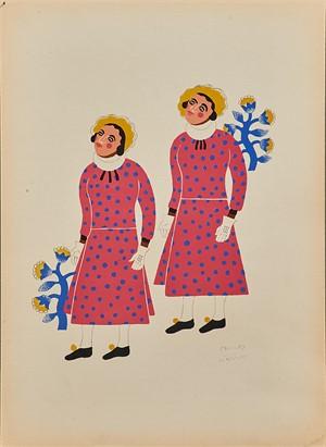 Two Men From Santa Ana Chiautempan Dressed as Women, 1940