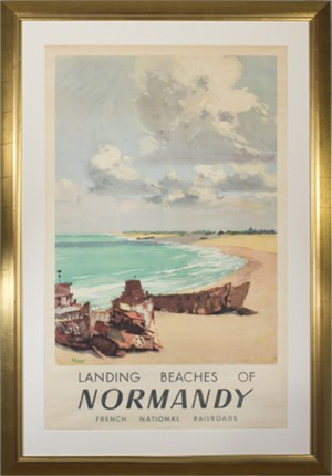 Normandy, a.k.a. Landing Beaches of Normandy, French National Railroads (Societe Nationale des Chemins de Fer Francais), 1947