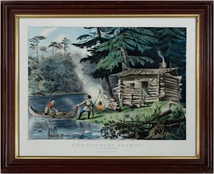 The Hunter's Shanty in the Adirondacks, 1861