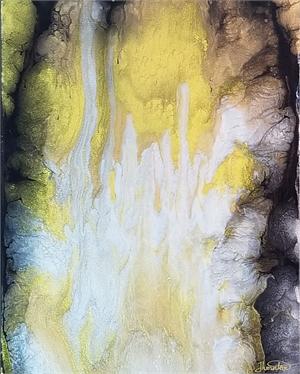 Midas Love - Fluid Acrylic on Canvas, 2020