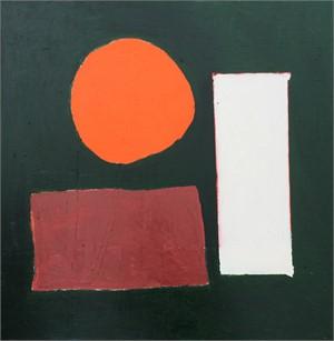 Orange Circle with petal + sanguine by Catherine Booker Jones