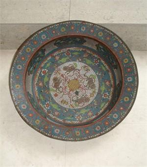 LARGE CLOISONNE ENAMEL BASIN, Chinese, Ming Dynasty (1368-1644)