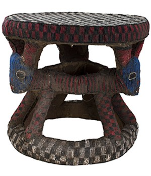 Bamoum Stool Used By Cattle Owner Cameroon, c.1965