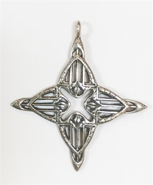 Pendant - Silver Cross Of St Charles 6245, 2019
