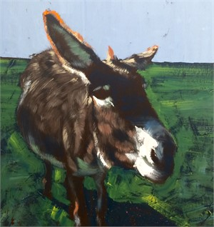 Donkey On Grass