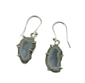 Earring - Sterling Silver With Geodes