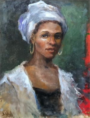 Woman With White Turban, 2018