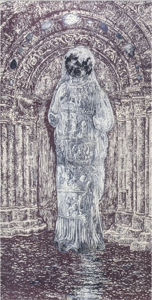 Alchemical Doors for C.A. Meier l (Moon Goddess), 1992