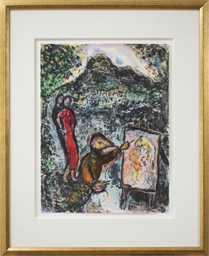 Famous Artist Ser. Homage to Chagall- Near St. Jeannet (Devant St. Jeannet) M646, 2009