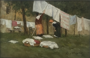 Figures at a Clothesline