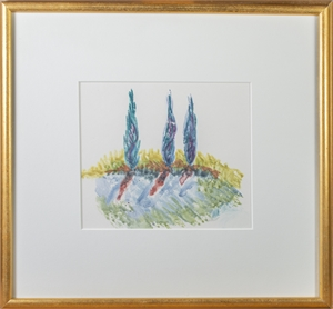 Blue Cypress at Dusk, 1995