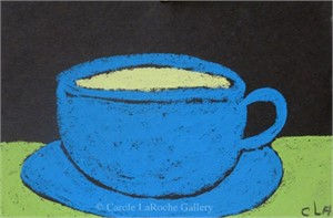LITTLE BLUE CUP AND SAUCER