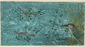 Untitled, dragonflies & bird 5/16, 2019