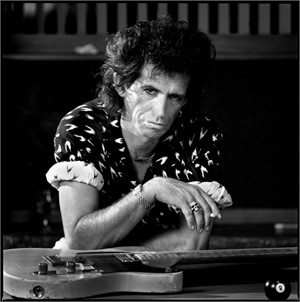 88146 Keith Richards Pool Table BW, 1988